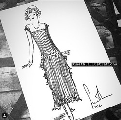 chanel 1922 dress by sinath illustration