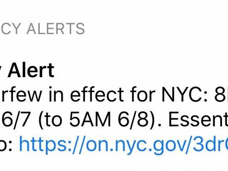 Important Notice Regarding NYC Curfew