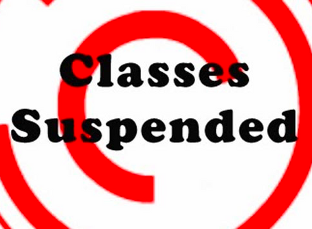 All Bluedata Classes Suspended from 3/20-3/29
