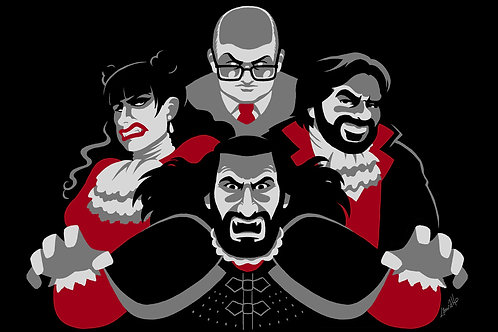 What We Do in the Shadows Vampires A4 print