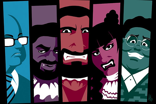What We Do in the Shadows Group A3 print