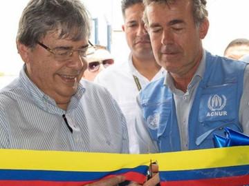 Colombia inaugura centro de refugio para los venezolanos