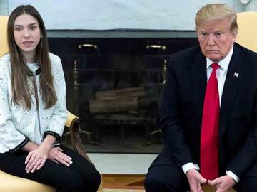 """""""Rusia tiene que salir"""" de Venezuela, dice Trump al recibir a la esposa de Juan Guaidó"""