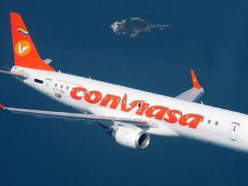 Aerolínea Conviasa anuncia sus tarifas para rutas internacionales en Petros y Euros