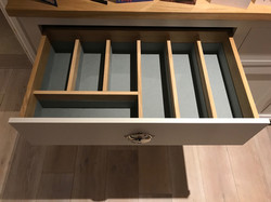 lined drawer