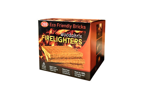 WOODABRIX NATURAL FIRELIGHTERS 3 PACK - 288 CUBES