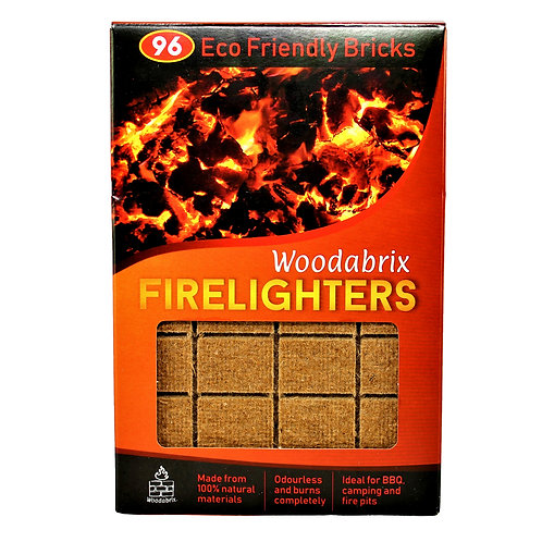 WOODABRIX NATURAL FIRELIGHTERS 1 PACK - 96 CUBES