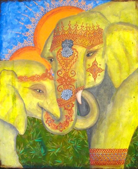 Henna Elephants