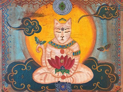 Tabby Buddha Cat