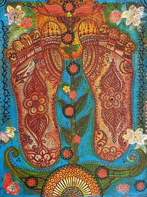 Lotus Path Original Painting