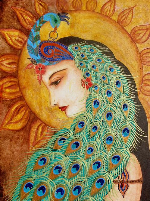 Peacock Lady Giclee Print