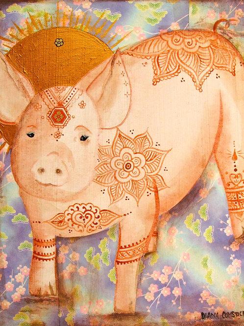 Henna Piglet Giclee Print