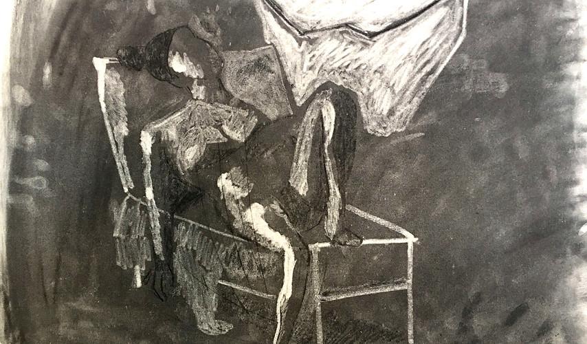 Chalk drawing