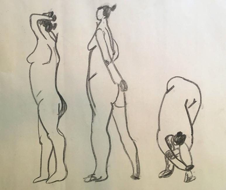 Nude life sketch