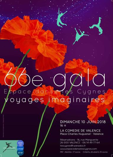 66ème gala espace danse les cygnes 2018 Voyage imaginaire