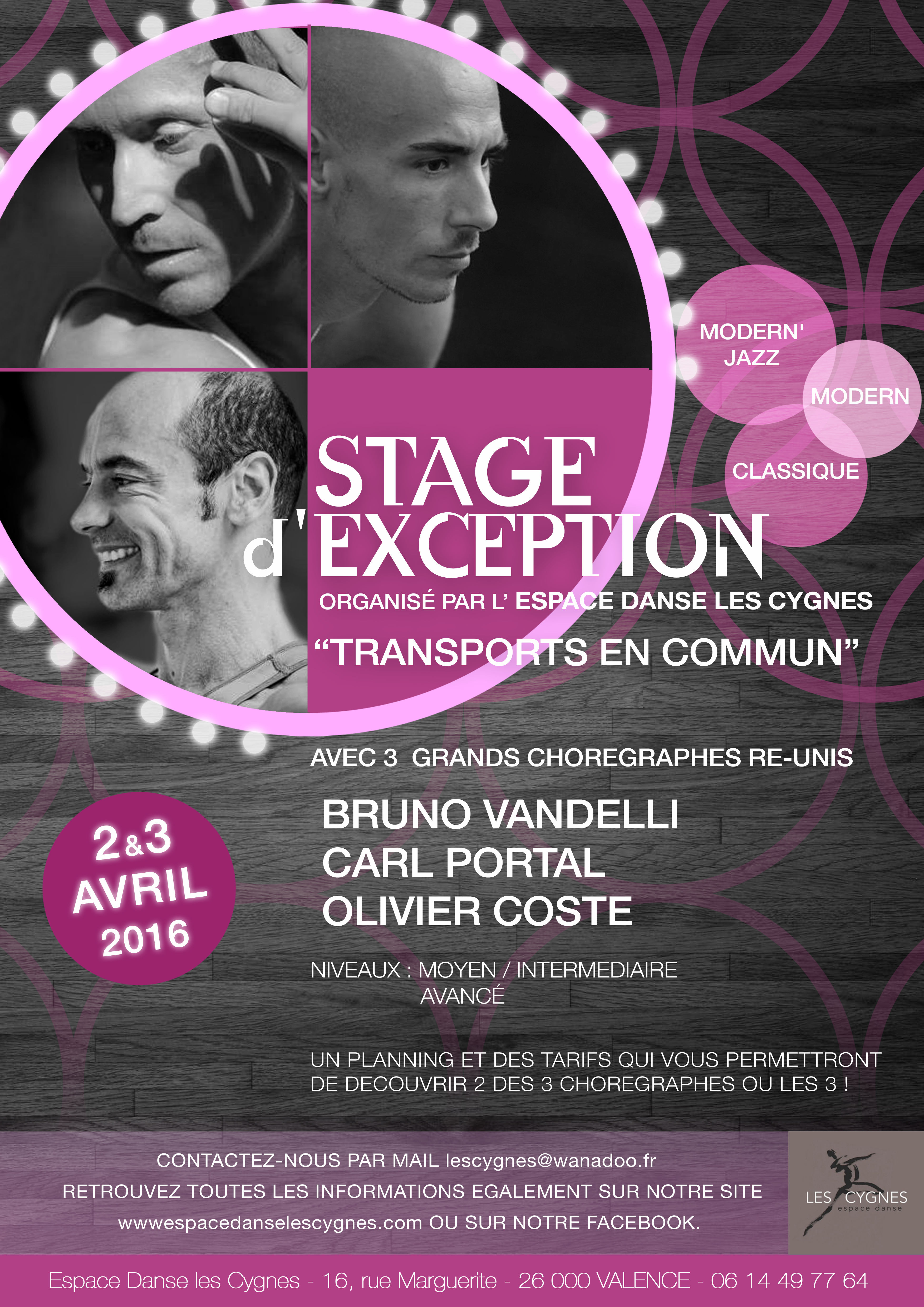 Stage d'exception 2 et 3 avril 2016