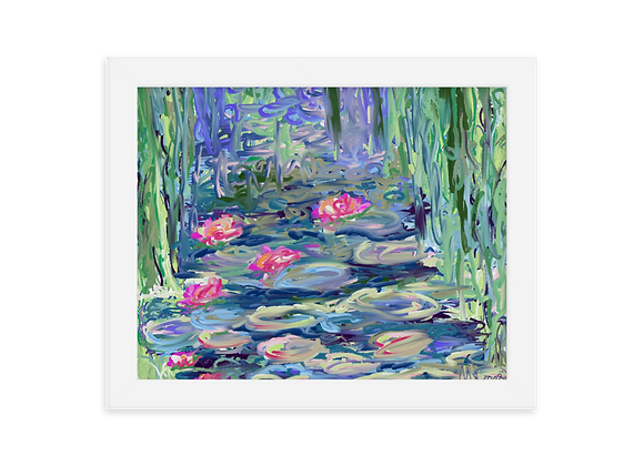 """""""Water Lily"""" 00.8 Framed Poster"""
