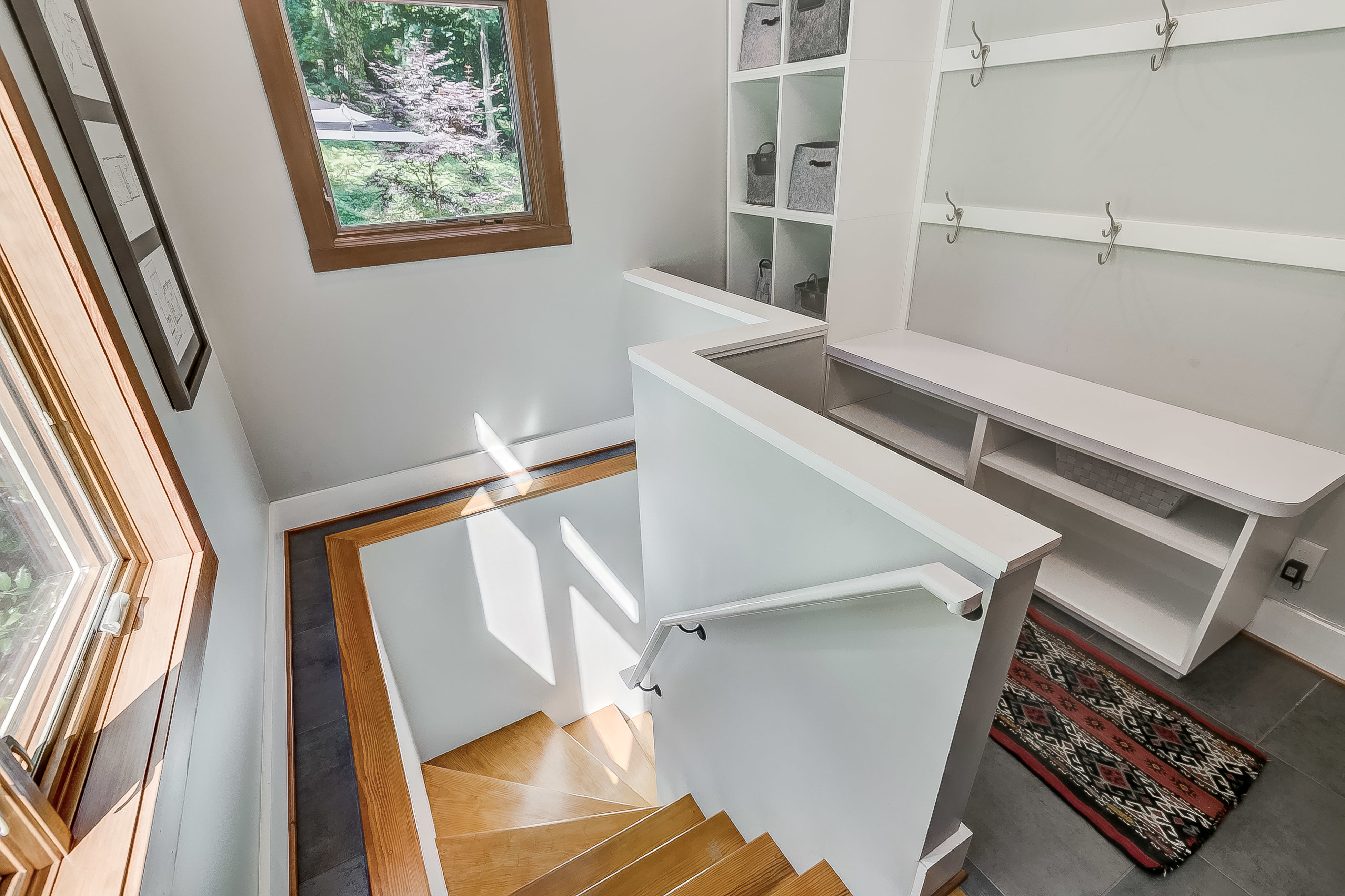 walk down the stairs in the addition + get prepared to be amazed