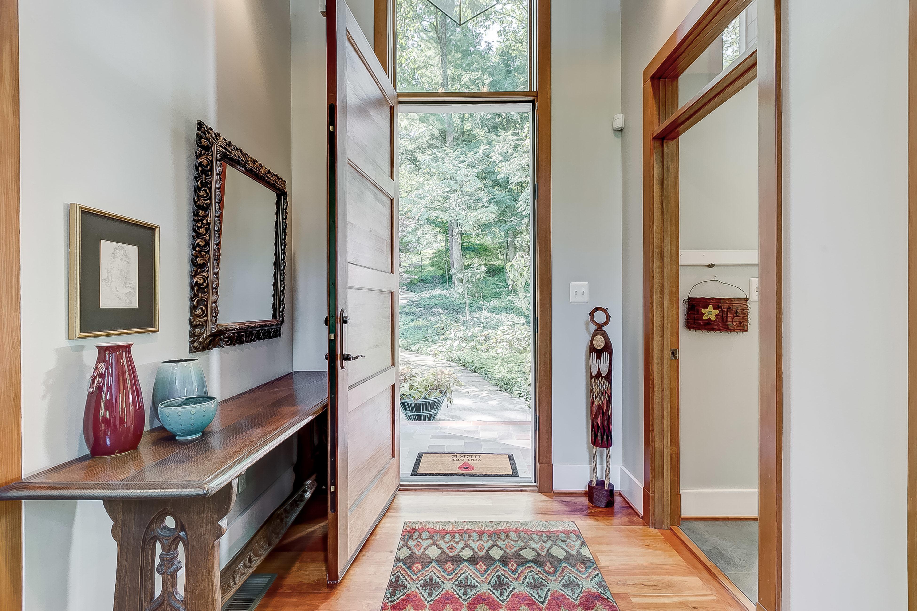 turn around + appreciate the custom millwork + cherry floors