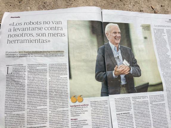 Inteligencia Artificial, de Jerry Kaplan, protagonista en el diario ABC
