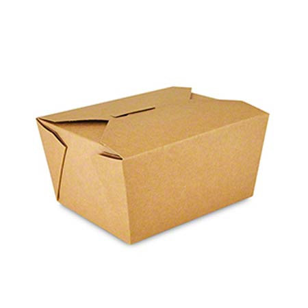 Kraft Folded Takeout Boxes