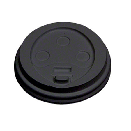 Dome Lid For 10-20 oz. Hot Cup - Black