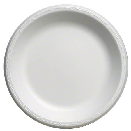 "Genpak® Elite Foam Laminate Round Plate - 10 1/4"", White"