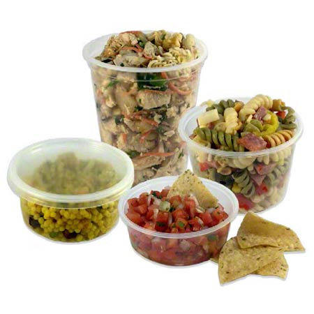 Clear Deli Containers & Lid