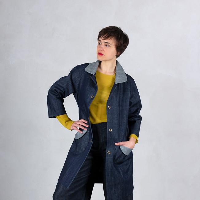 Frühlingsmantel Jeans