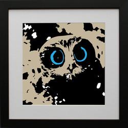Owl with black frame