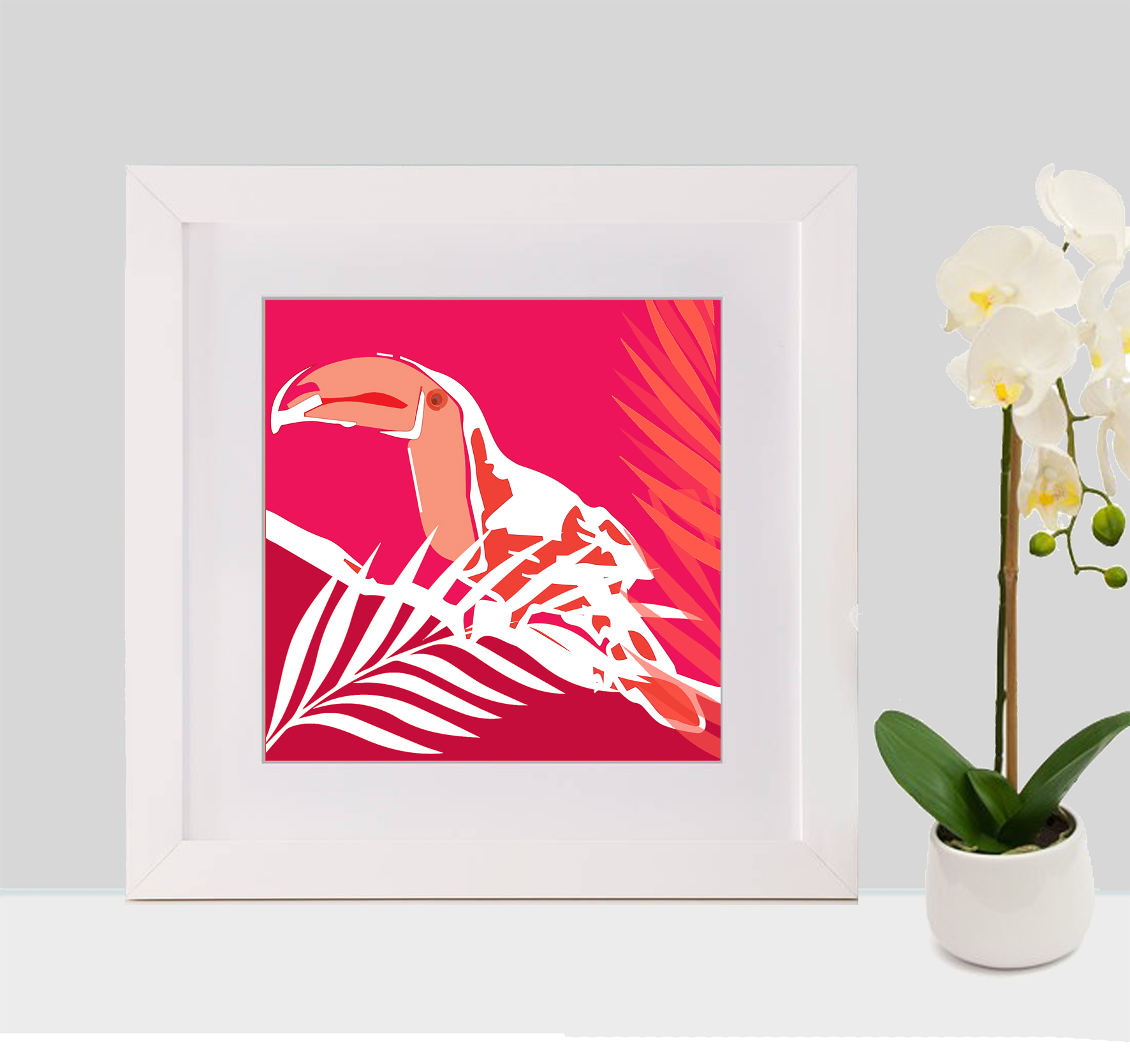 toucan with frame