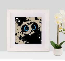 Owl with frame