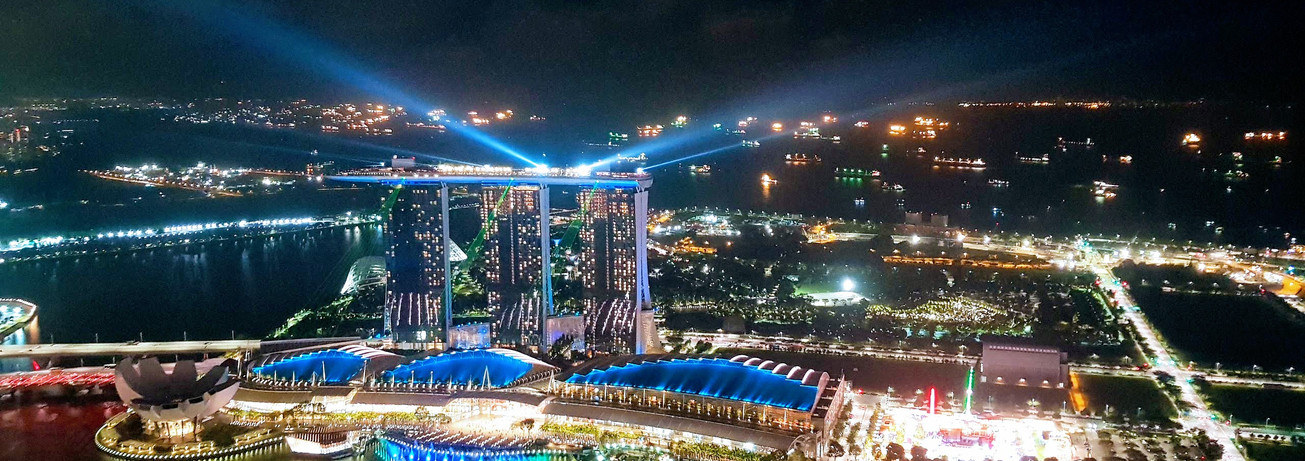 Marina Bay Sands, Singapore. Taking my breath away.