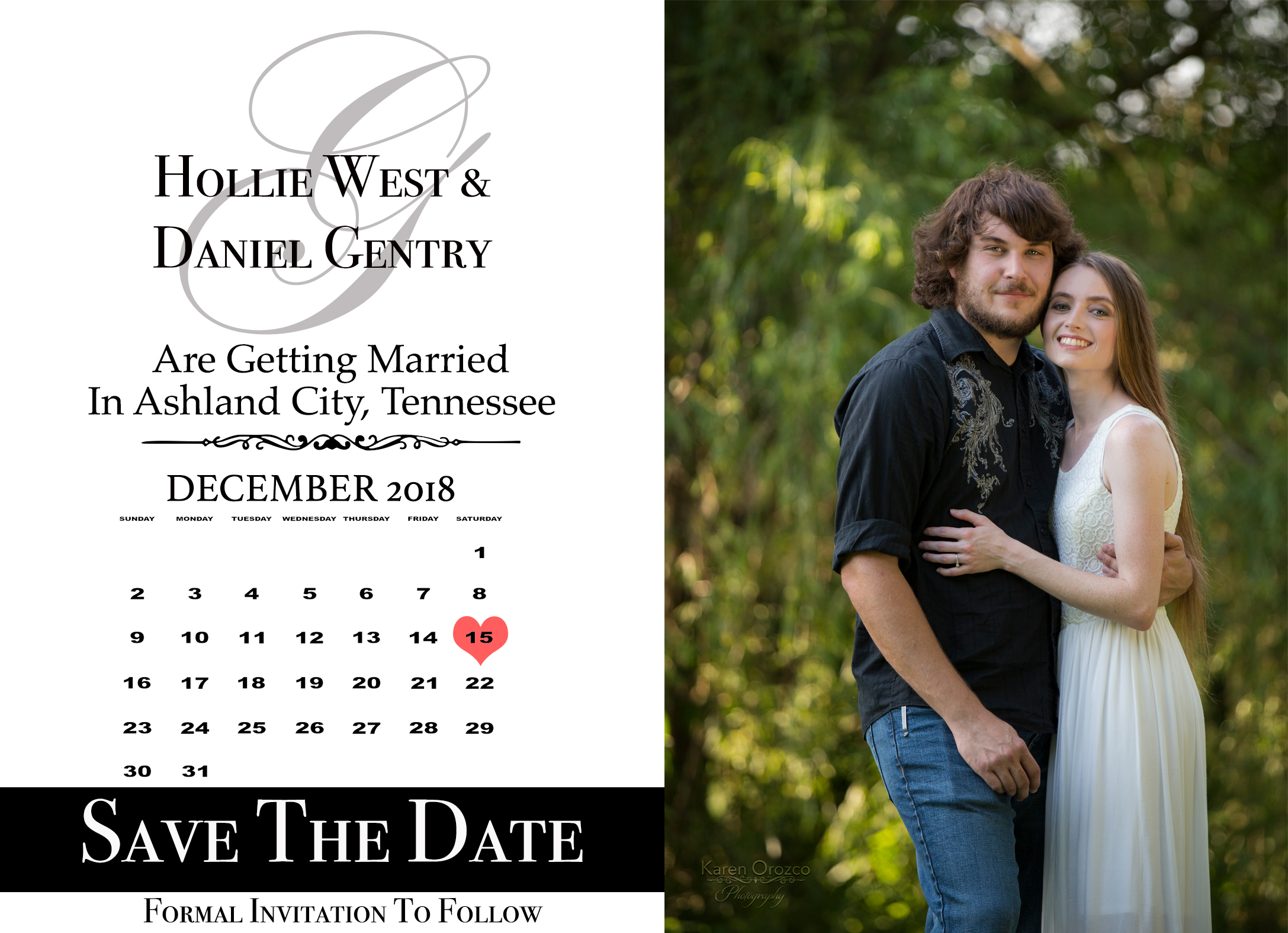 Save The Date (front)