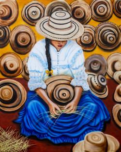 Tejiendo el Sombrero Pintao