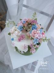 Buttercreamflower cake_05