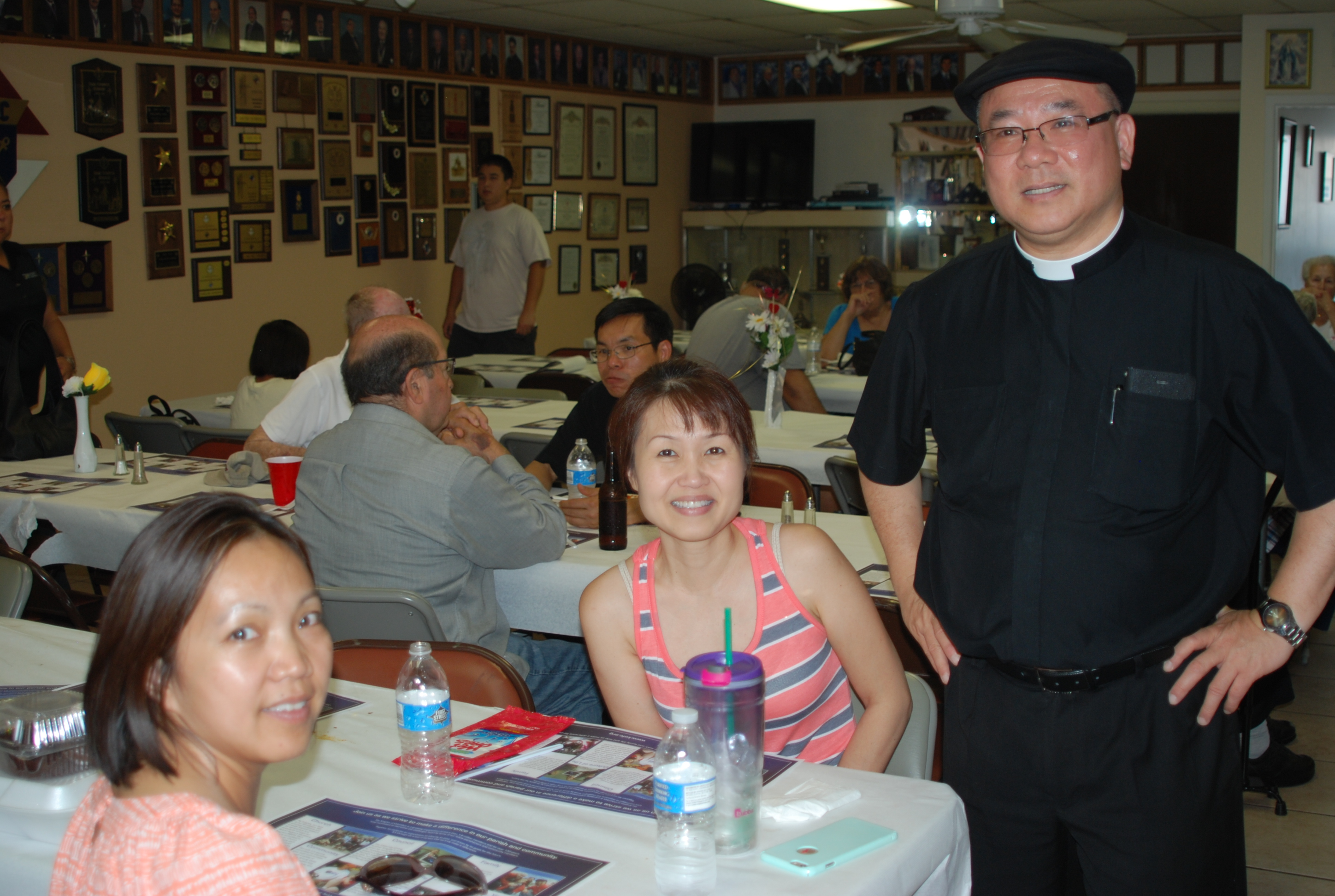 Pastor Tuyen having a good time