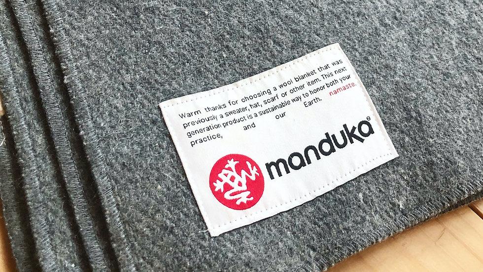 6枚セット!Mandukaウール ブランケット / RECYCLED TWILL WOOL BLANKET・グレー