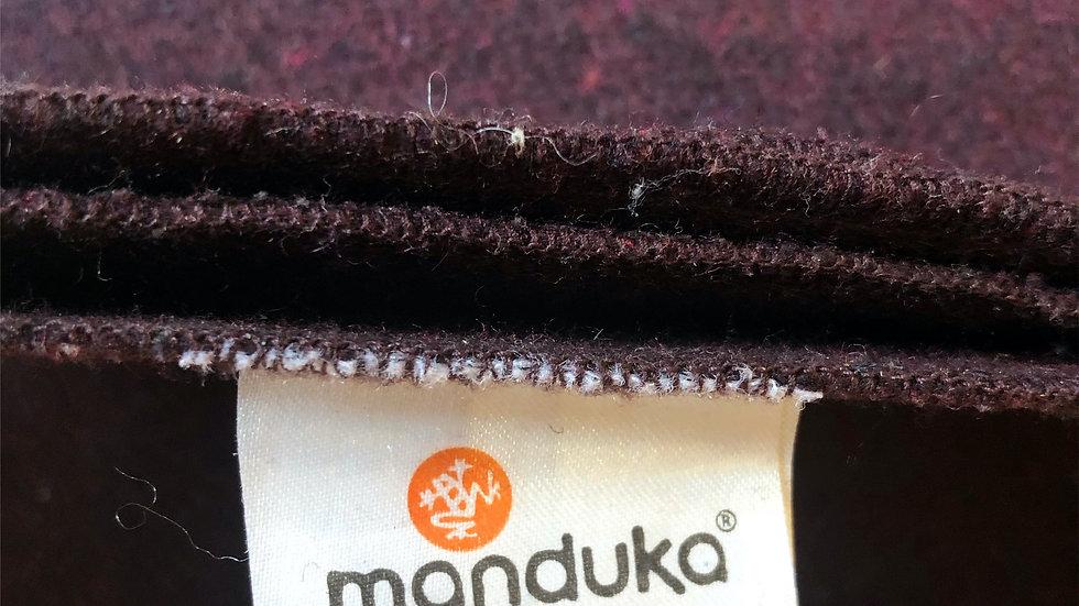5枚セット!Mandukaウール ブランケット / RECYCLED TWILL WOOL BLANKET・ワインレッド