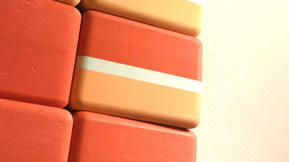 6個セット!Mandukaヨガ ブロック / Recycled Foam Block(赤白)