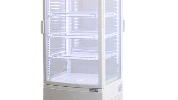 4面ガラス冷蔵ショーケース LED仕様 前後両開き扉タイプ RCS-4G98WL