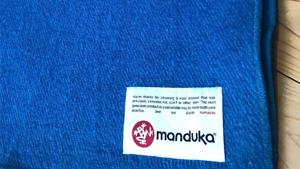 2枚セット!Mandukaウール ブランケット / RECYCLED TWILL WOOL BLANKET・ブルー