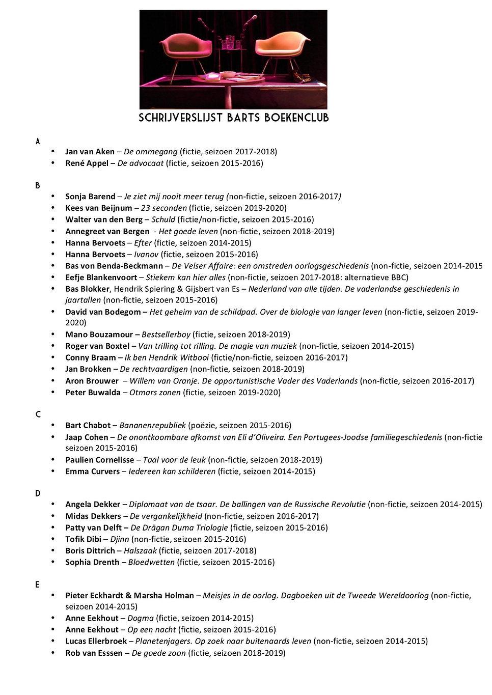 Schrijverslijst Barts BoekenClub A-Z.jpg