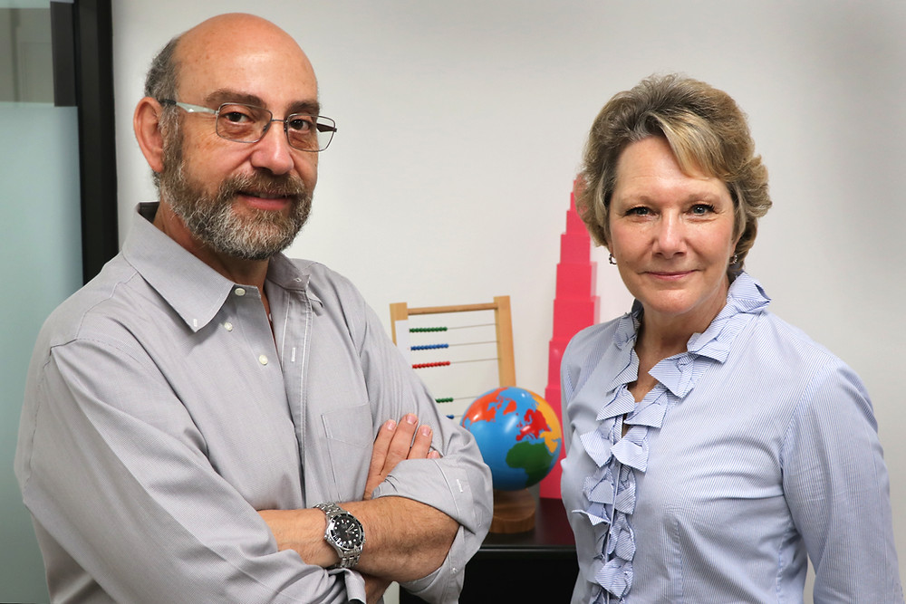 Picture showing Aki Margaritis and Erika Ohlhaver the principals of ETC Montessori and Gulf Coast Montessori Teacher Training Center.