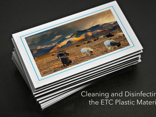 Disinfecting the ETC Plastic Material. Guarding against COVID-19