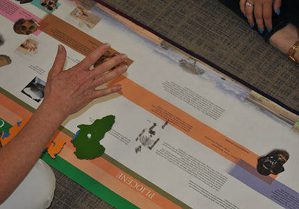 A teachable moment using the ETC Montessor timeline of early humas