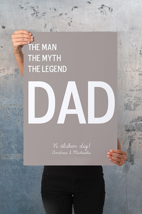DAD / Father's Day - PERSONALISED POSTER OR CANVAS.