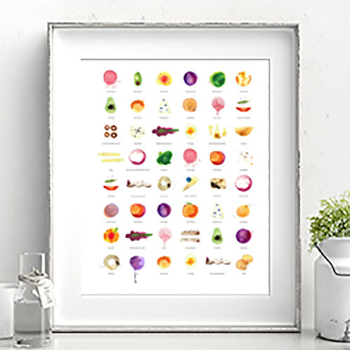 FOR ALL FOODIES... WATERCOLOUR ILLUSTRATION ART PRINT OR CANVAS