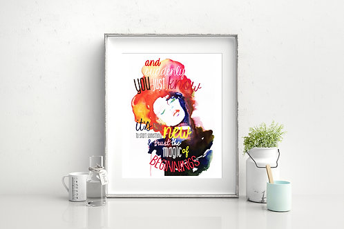ART PRINT: AND SUDDENLY YOU JUST KNOW... ORIGINAL ILLUSTRATION WITH ADDED ELEMEN
