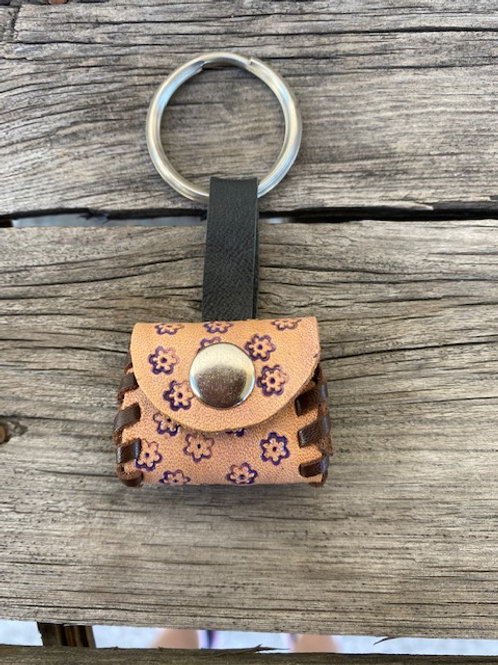 Coin Pouch Keyring - Flowers